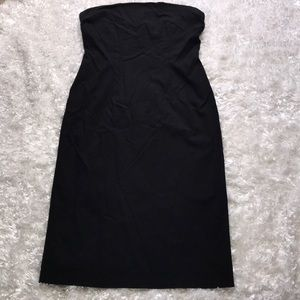 Solid Black Strapless Cache Dress Size 10 P10